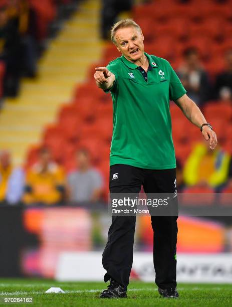 Brisbane Australia 9 June 2018 Ireland head coach Joe Schmidt prior to the 2018 Mitsubishi Estate Ireland Series 1st Test match between Australia and...