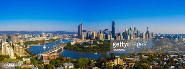 brisbane, australia - panoramic stock pictures, royalty-free photos & images