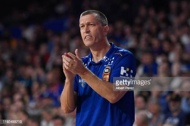 Brisbane Bullets head coach Andrej Lemanis reacts during the round 10 NBL match between the Brisbane Bullets and the Illawarra Hawks at Nissan Arena...