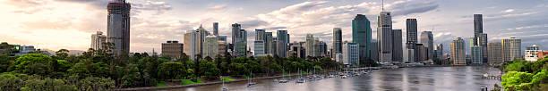 Brisbane Business District Sunset Panorama Wall Art