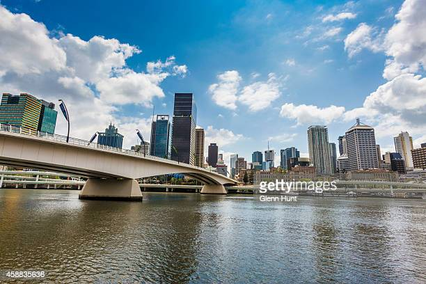 Brisbane CBD and Victoria Bridge are seen ahead of the G20 Leaders Summit on November 12 2014 in Brisbane Australia World economic leaders will...