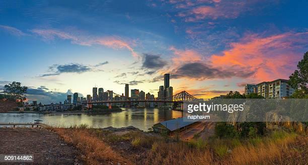 Brisbane city during beautiful sunset