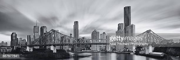 Brisbane city from the Story Bridge