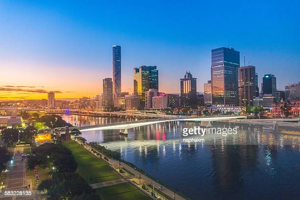 Brisbane City sunset