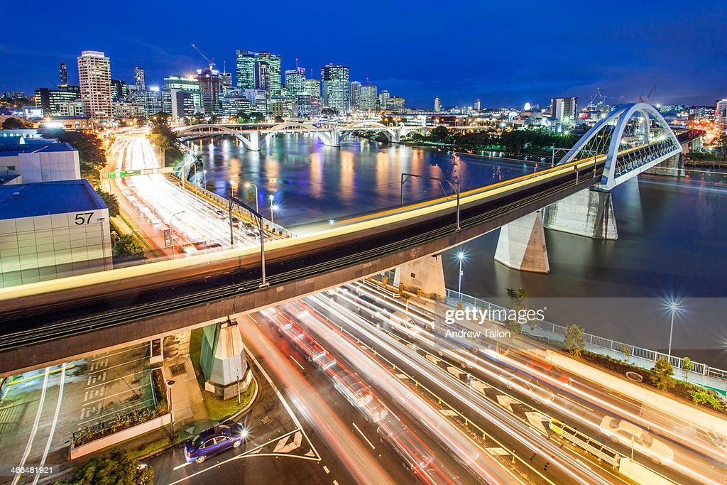 Brisbane City Traffic : Stock Photo