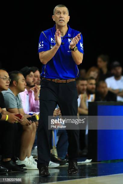 Brisbane coach Andrej Lemanis during the round 15 NBL match between the New Zealand Breakers and the Brisbane Bullets at Spark Arena on January 27...