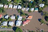 Brisbane Flood 2011 Aerial View Homes Under