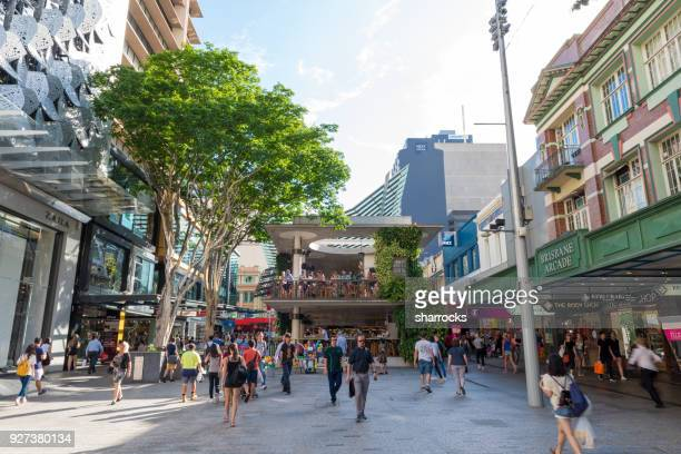 brisbane high street - brisbane stock pictures, royalty-free photos & images