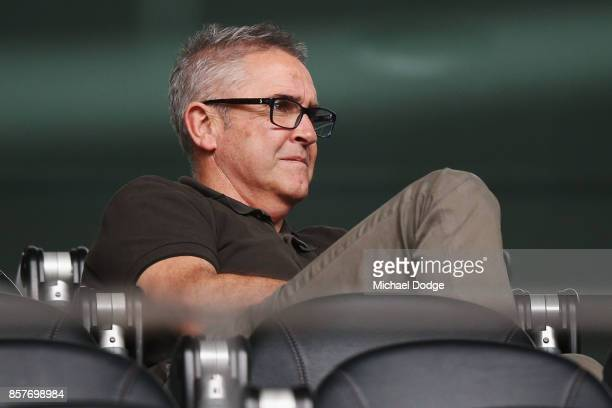 Brisbane Lions head coach Chris Fagan looks on during the AFL Draft Combine at Etihad Stadium on October 5 2017 in Melbourne Australia
