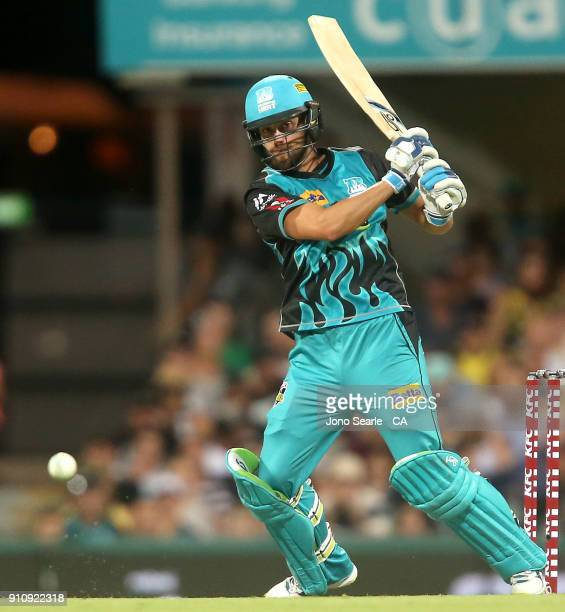 Brisbane player Alex Ross looks to run during the Big Bash League match between the Brisbane Heat and the Melbourne Renegades at The Gabba on January...