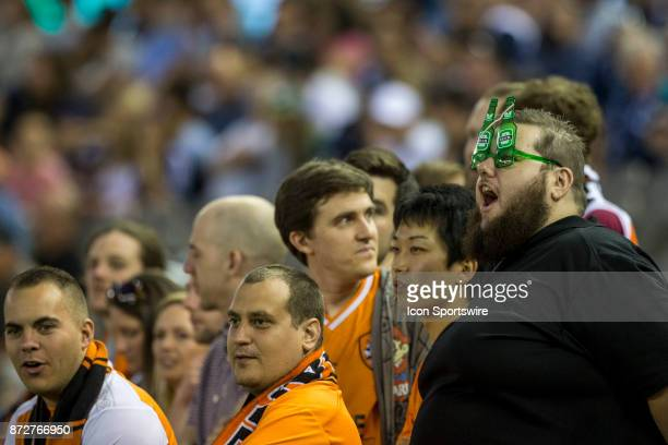 Brisbane Roar fan with beer goggles on watches the game during Round 6 of the Hyundai ALeague Series between Melbourne Victory FC and Brisbane Roar...