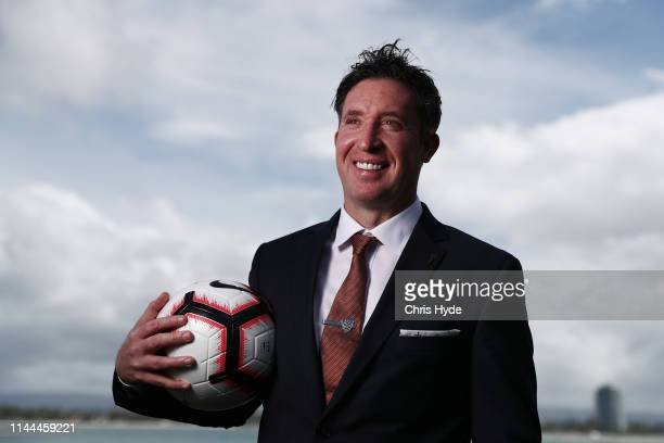Brisbane Roar new head coach Robbie Fowler poses after a ALeague media opportunity at Sea World Resort on April 23 2019 in Gold Coast Australia