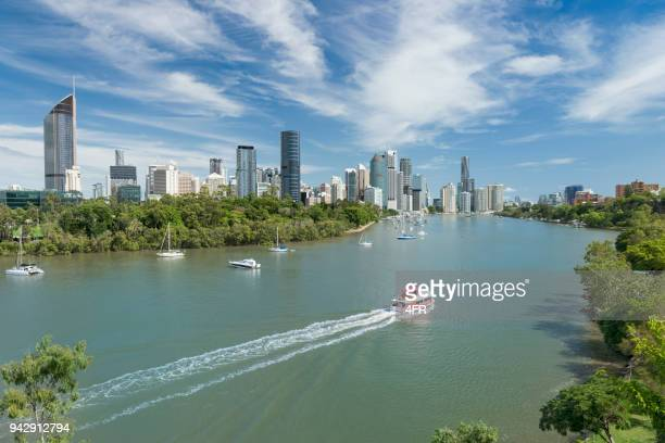 Brisbane Skyline, Aerial Panorama, Queensland, Australia