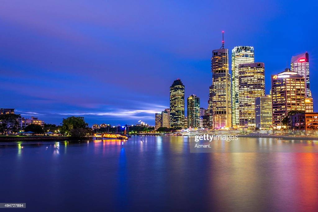 Brisbane Skyline at Dusk : Stock Photo