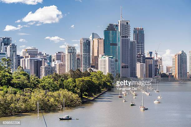 brisbane skyline - brisbane stock pictures, royalty-free photos & images