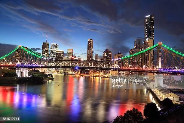 Brisbane skyline with Story Bridge, Queensland