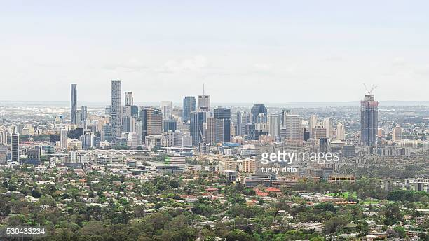 Brisbane urban skyline in daylight