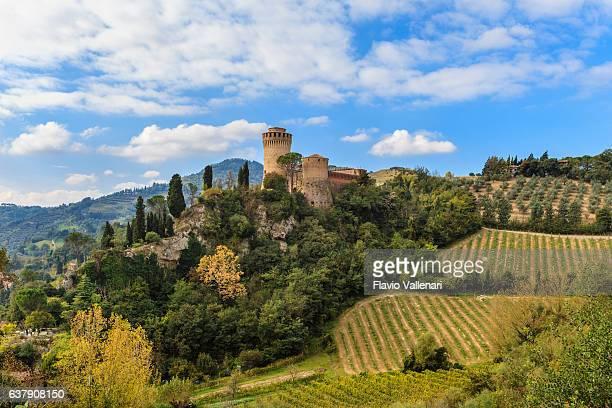brisighella, rocca manfrediana - emilia romagna, italy - emilia romagna stock photos and pictures