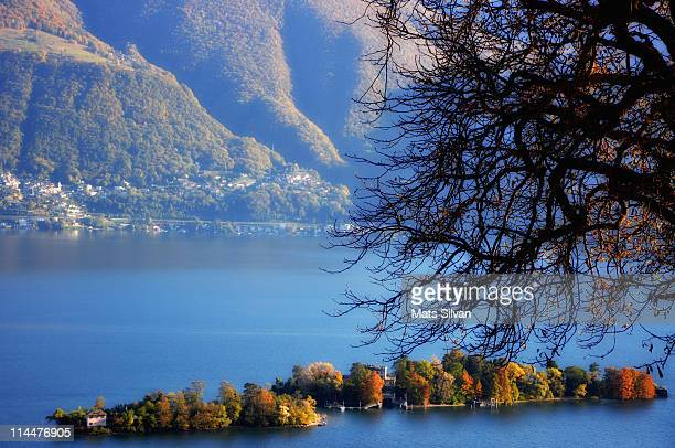 brissago islands - ascona stock photos and pictures
