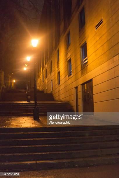 bristol backstreet at night - jack lo squartatore foto e immagini stock