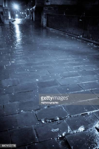 Bristol backstreet at night