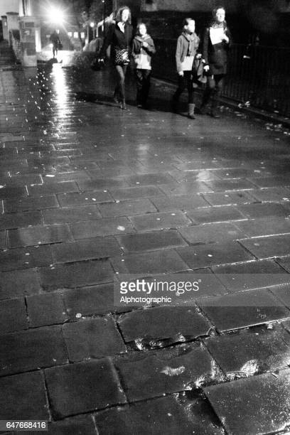 bristol backstreet at night - jack the ripper stock photos and pictures