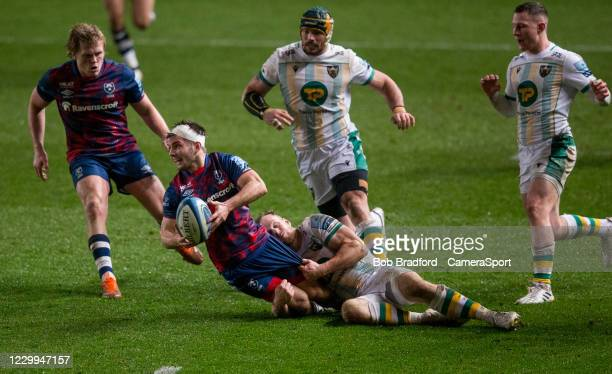 Bristol Bears' Harry Randall in action during the Gallagher Premiership Rugby match between Bristol and Northampton Saints at Ashton Gate on December...
