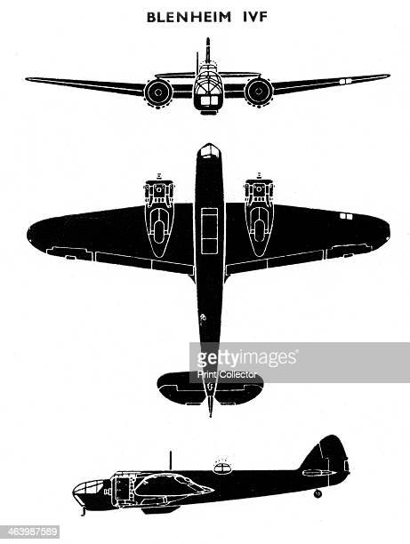 Bristol Blenheim Mk IVF 1941 Initailly conceived as a light bomber the Blenheim was successfully converted into a longrange and night fighter...
