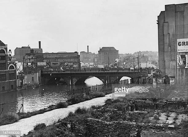 Bristol Bridge over the River Avon in Bristol November 1949
