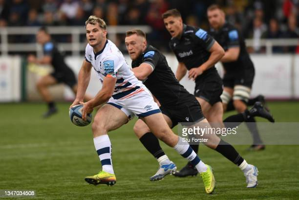 Bristol centre Jack Bates in action during the Gallagher Premiership Rugby match between Newcastle Falcons and Bristol Bears at Kingston Park on...