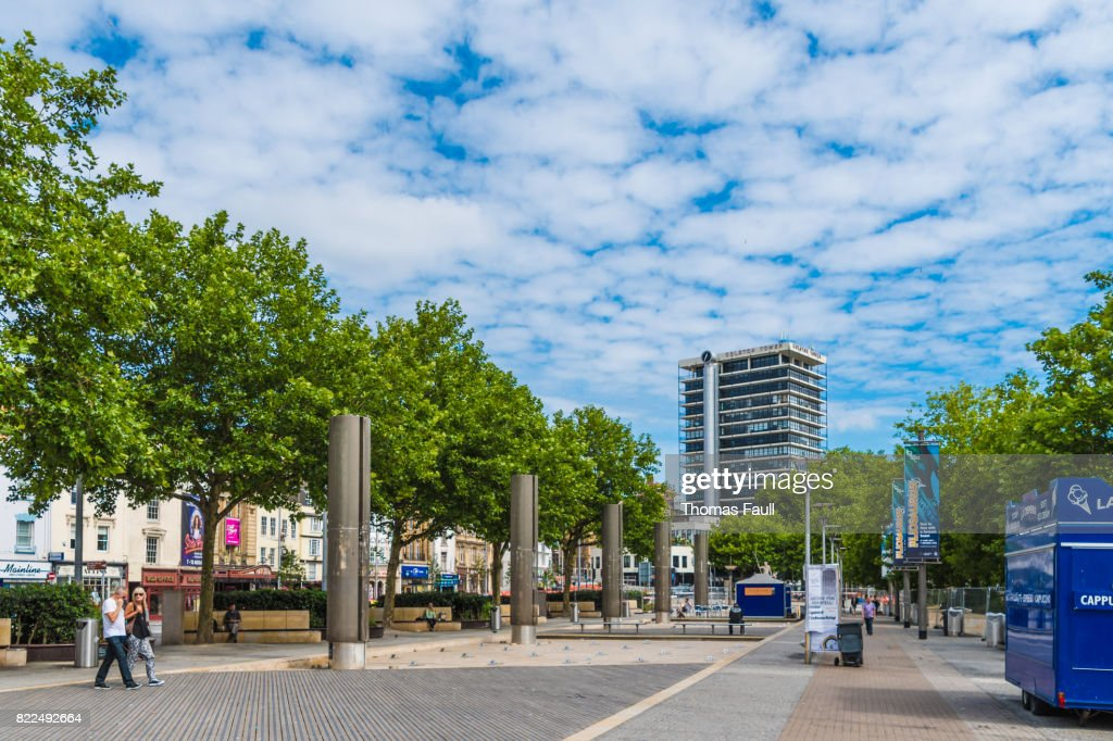Bristol City Center in England : Stock Photo