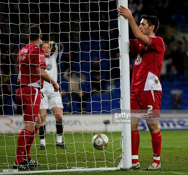 Bristol City defender Bradley Orr looks on dejectedly after scoring an own goal during the FA Cup sponsored by EON 3rd Round Replay match between...