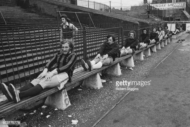 Bristol City FC soccer players in training, UK, 14th February 1974.