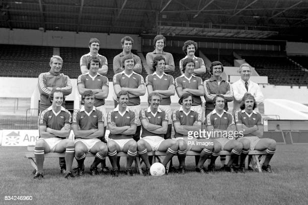 Bristol City Football Club left to right Back Row Don Gillies Ray Cashley John Shaw and Clive Whitehead Middle row from left Alan Dicks Paul Cheesley...