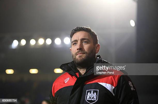 Bristol City Manager Lee Johnson during the Sky Bet Championship match between Ipswich Town and Bristol City at Portman Road on December 30 2016 in...