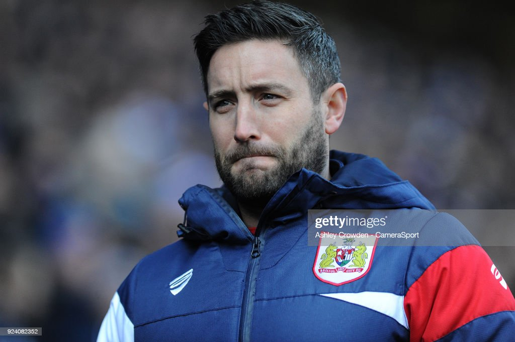 Bristol City manager Lee Johnson during the Sky Bet Championship match between Cardiff City and Bristol City at Cardiff City Stadium on February 25, 2018 in Cardiff, Wales.