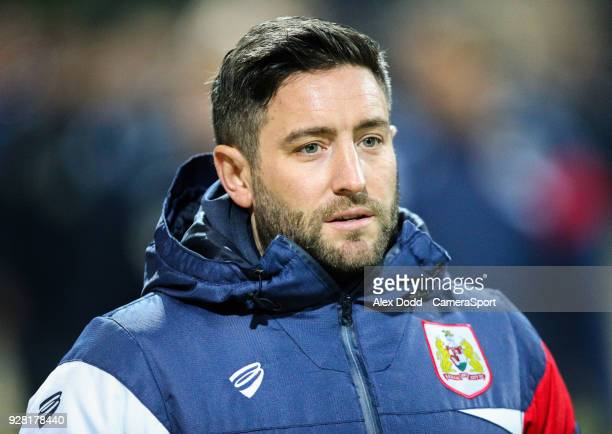 Bristol City manager Lee Johnson during the Sky Bet Championship match between Preston North End and Bristol City at Deepdale on March 6 2018 in...