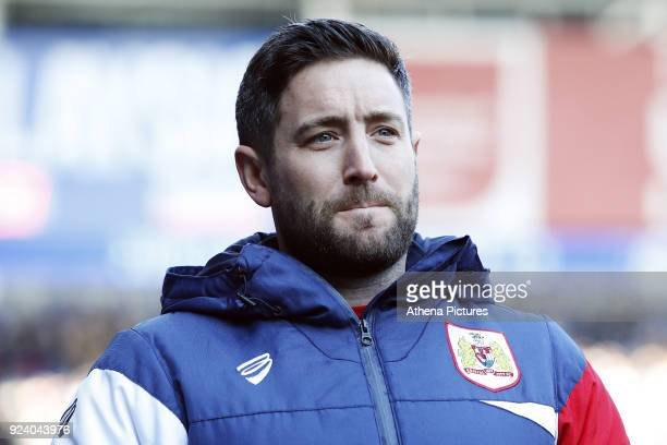 Bristol City manager Lee Johnson prior to kick off of the Sky Bet Championship match between Cardiff City and Bristol City at the Cardiff City...