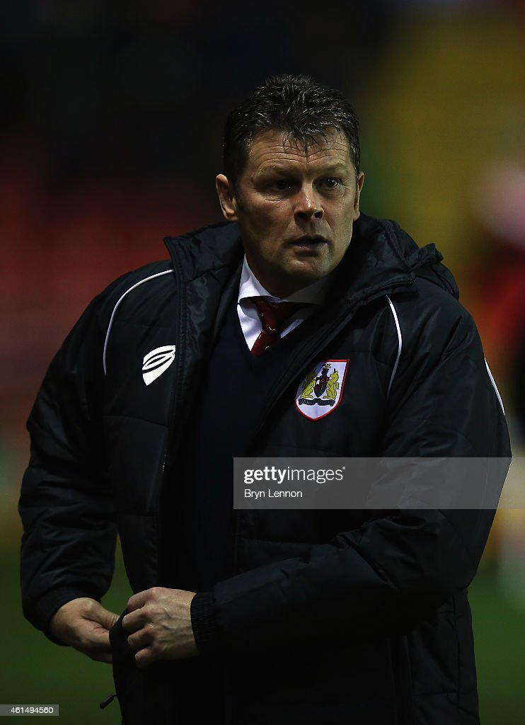 Bristol City Manger Steve Cotterill looks on during the FA Cup Third Round Replay between Bristol City and Doncaster Rovers at Ashton Gate on January 13, 2015 in Bristol, England.
