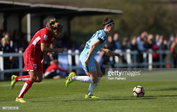 Bristol City Women v Manchester City Women Womens FA Cup Fifth Round Stoke Gifford Stadium Manchester City's Lucy Bronze in action against Bristol...