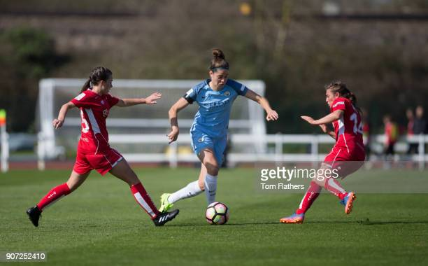 Bristol City Women v Manchester City Women Womens FA Cup Fifth Round Stoke Gifford Stadium Manchester City's Tessel Middag in action against Bristol...