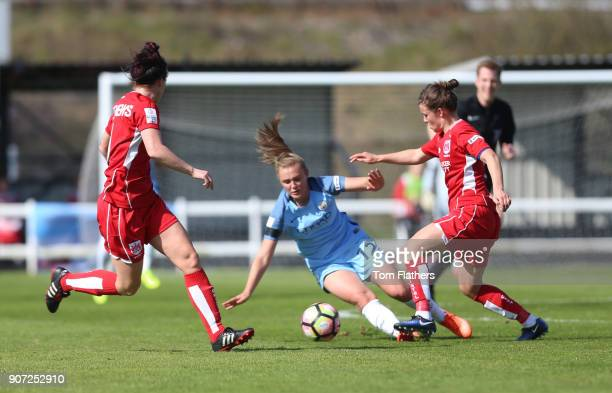 Bristol City Women v Manchester City Women Womens FA Cup Fifth Round Stoke Gifford Stadium Manchester City's Georgia Stanway in action against...