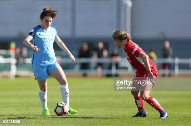 Bristol City Women v Manchester City Women Womens FA Cup Fifth Round Stoke Gifford Stadium Manchester City's Melissa Lawley in action against Bristol...