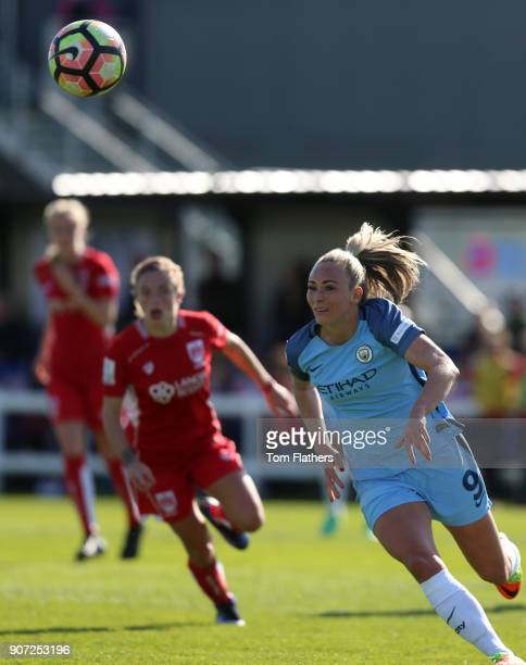 Bristol City Women v Manchester City Women Womens FA Cup Fifth Round Stoke Gifford Stadium Manchester City's Toni Duggan in action against Bristol...