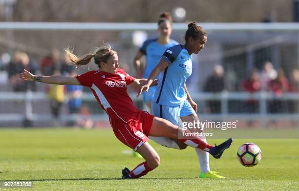 Bristol City Women v Manchester City Women Womens FA Cup Fifth Round Stoke Gifford Stadium Manchester City's Nikita Parris in action against Bristol...