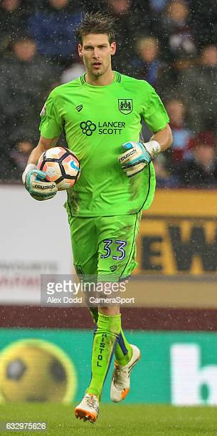 Bristol City's Fabian Giefer in action during the Emirates FA Cup Fourth Round match between Burnley and Bristol City at Turf Moor on January 28 2017...