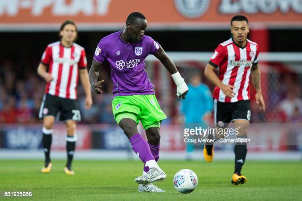 Bristol City's Famara Diedhiou in action during the Sky Bet Championship match between Brentford and Bristol City at Griffin Park on August 15 2017...