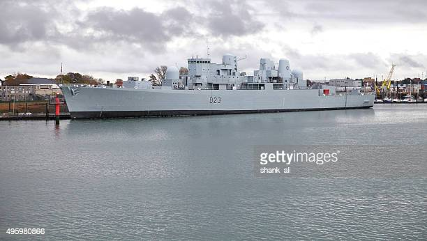 hms bristol (d23) destroyer - warship stock pictures, royalty-free photos & images