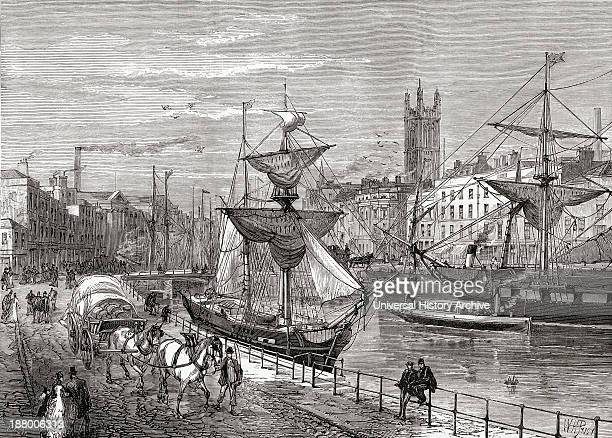 Bristol England Seen From St Augustine's Quay In The Late 19Th Century From Our Own Country Published 1898