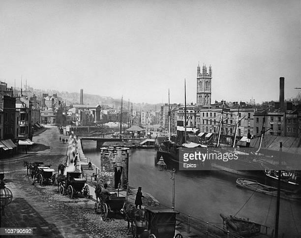 Bristol Harbour on the River Avon circa 1880